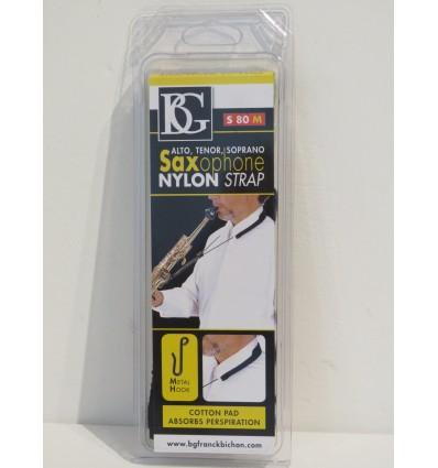 BG Franck Bichon S80M Alto/Tenor/Soprano Saxophone Nylon Neck Strap/Sling – New