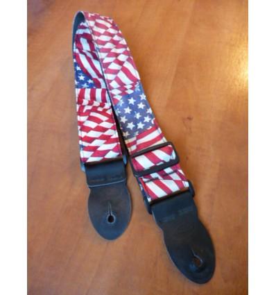 Leathergraft LG American Stars and Stripes Flag Guitar Strap