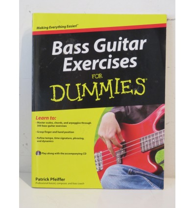 Bass Guitar Exercises For Dummies Book & CD