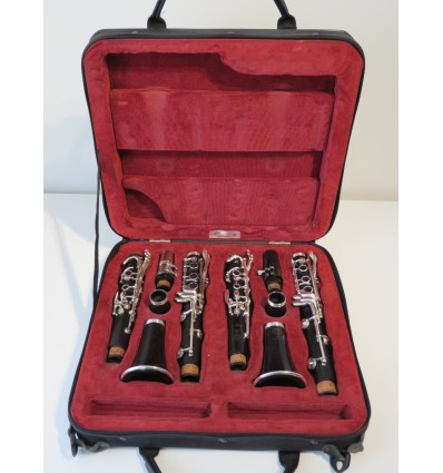 Pair of Professional A & Bb Selmer Prologue Clarinets with Orly Double Case