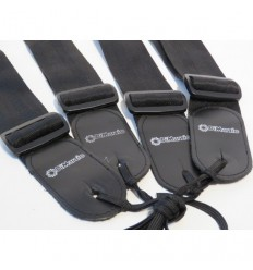 DiMarzio DD3100N Guitar Strap Nylon with Leather Ends - Black