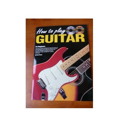 How to Play Guitar for Beginners + CD & DVD - New